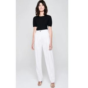 ESCADA Wool Silk BLACK Trim Tuxedo Inspired Pants